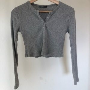 grey button up long sleeve